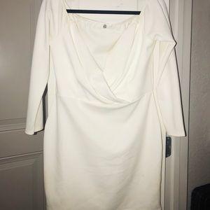 🖤 ✨ WHITE STRAPLESS SEXY DRESS